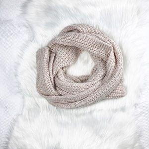 J. Crew light blush pink extra long knit scarf